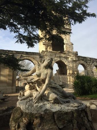 Niobe statue and roman arena Arles