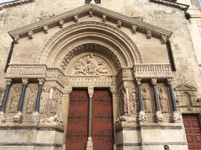 Sainte Trophime church portal detail