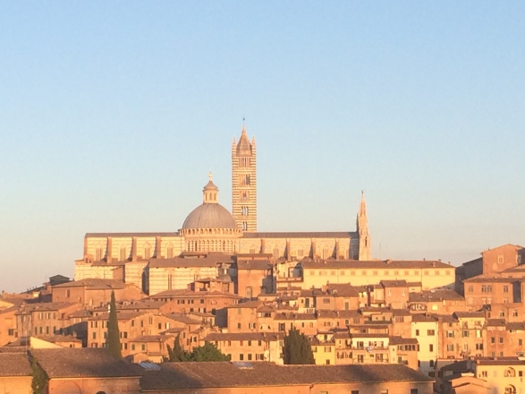 Close view at siena Duomo
